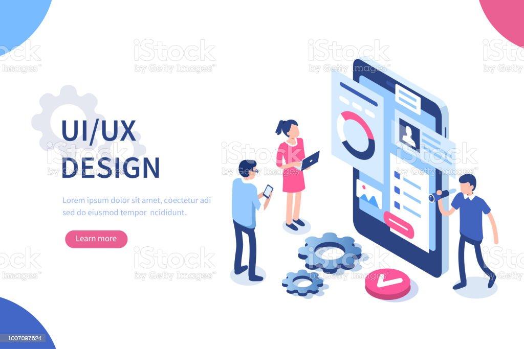 diseño de UX ilustración de diseño de ux y más vectores libres de derechos de aplicación para móviles libre de derechos