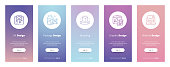 Ux, Package, Branding, Graphic, Website design Vertical Cards with strong metaphors. Template for website design.