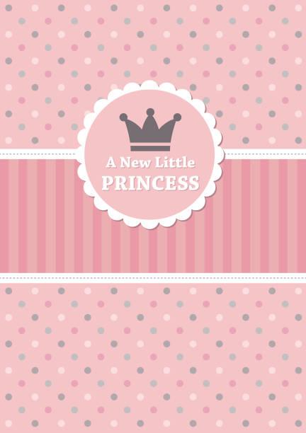 uy baby shower card design. vector illustration it's a girl stock illustrations
