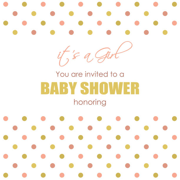 uy baby girl shower card it's a girl stock illustrations