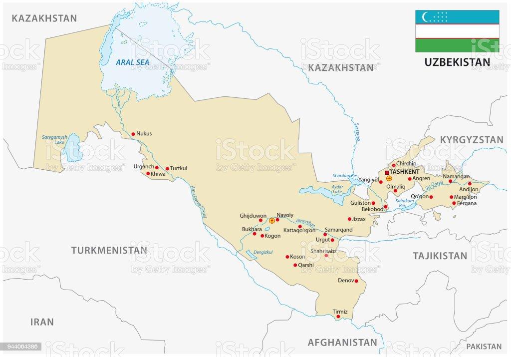 Usbekistan Karte.Usbekistan Karte Stock Vektor Art Und Mehr Bilder Von Asien Istock