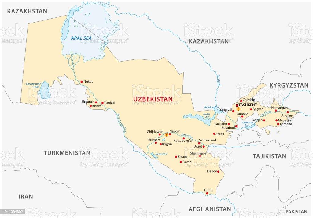 Uzbekistan Map Stock Vector Art More Images of Asia 944064392 iStock