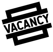vacancy black stamp
