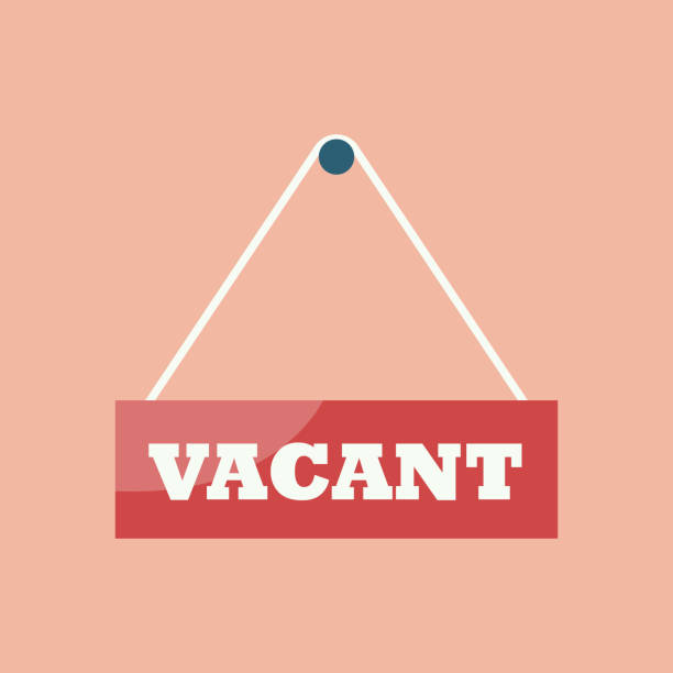 Vacant sign hanging plates Vacant sign hanging plates. Business hiring and recruiting concept vacancy stock illustrations