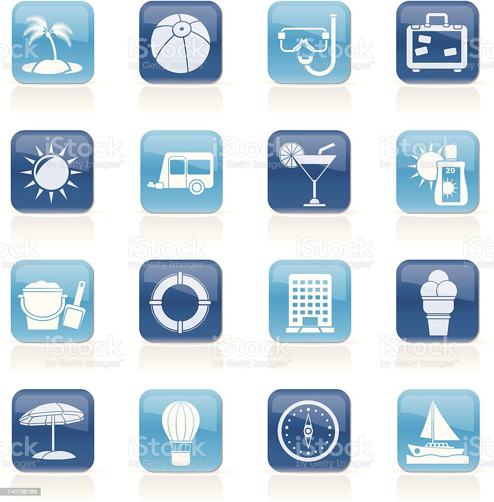 Vacation and holiday icons royalty-free vacation and holiday icons stock vector art & more images of alcohol