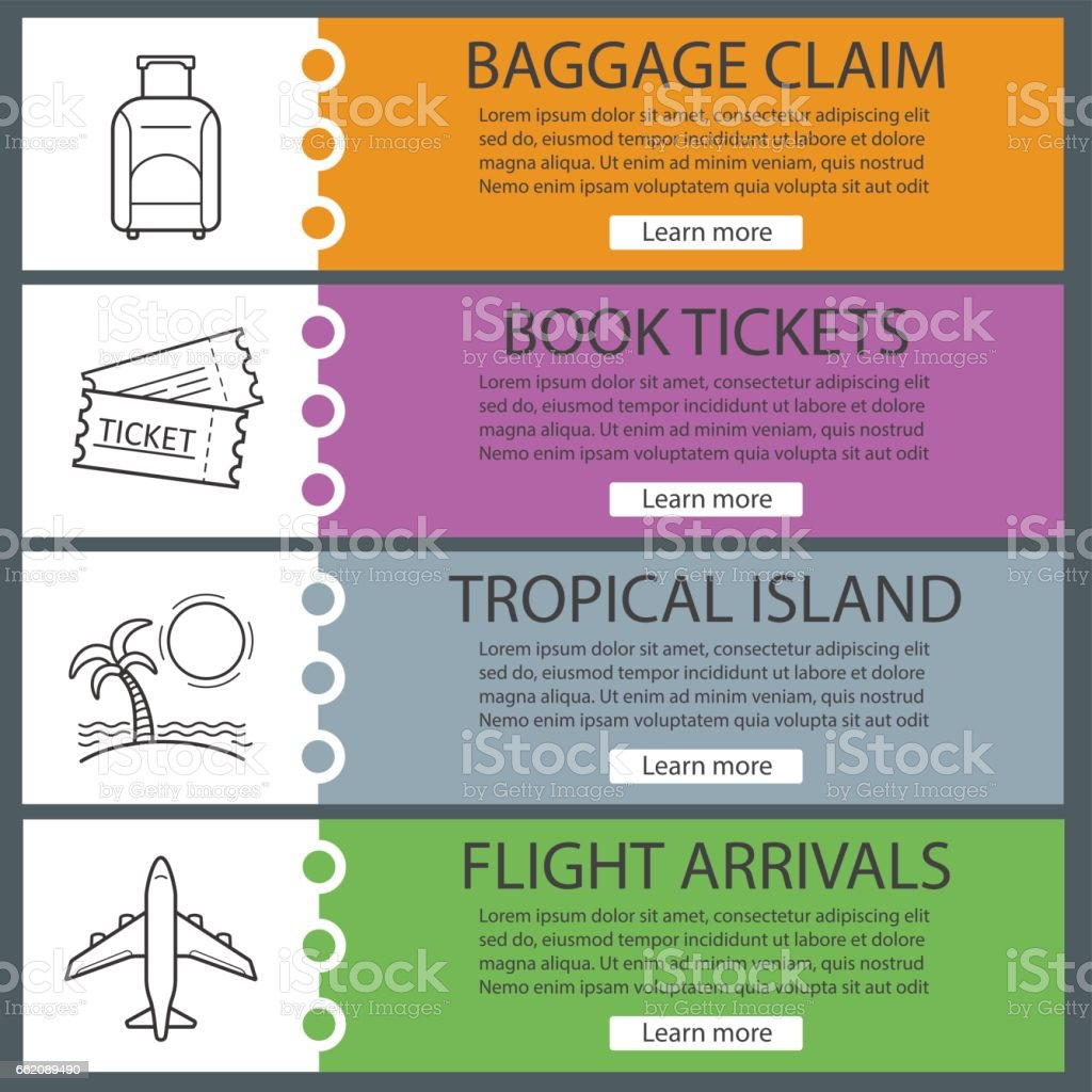 Vacation and travel banners royalty-free vacation and travel banners stock vector art & more images of airplane