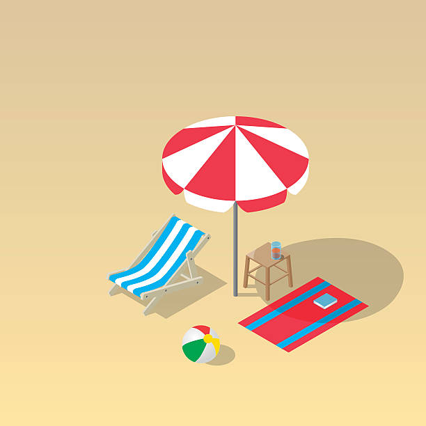 illustrations, cliparts, dessins animés et icônes de concept de vacances et voyage - transat