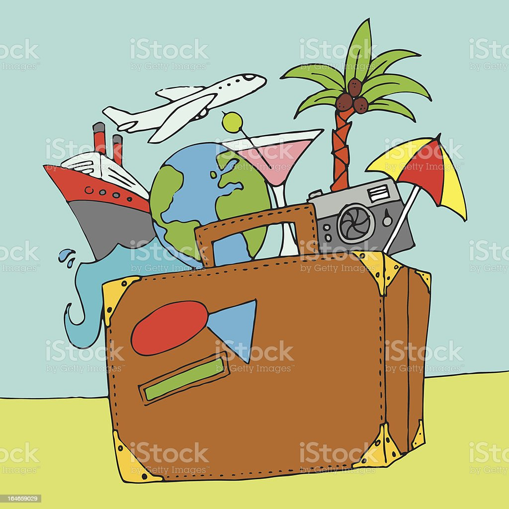 Vacation background royalty-free vacation background stock vector art & more images of airplane