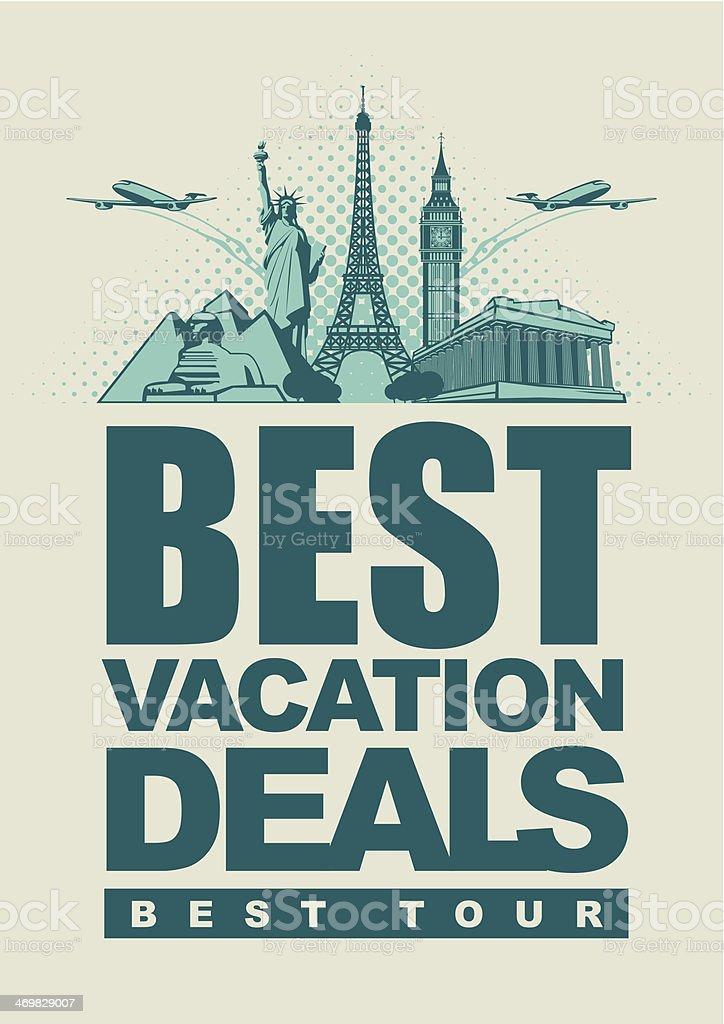vacation deals royalty-free stock vector art