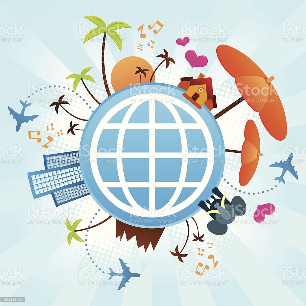 Vacation globe royalty-free vacation globe stock vector art & more images of airplane