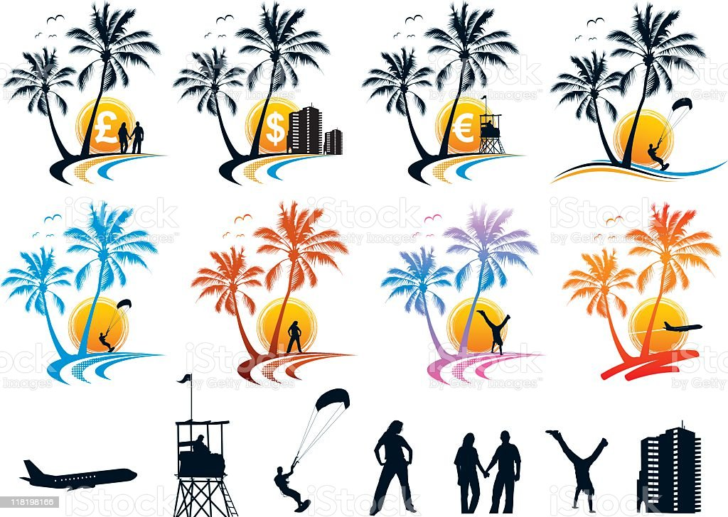 Vacation Icons and Elements