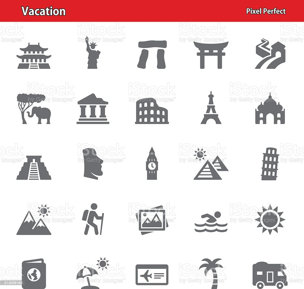 Vacation Icons - Set 1 vector art illustration