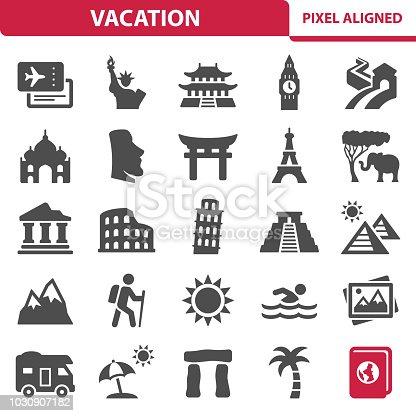 istock Vacation Icons 1030907182