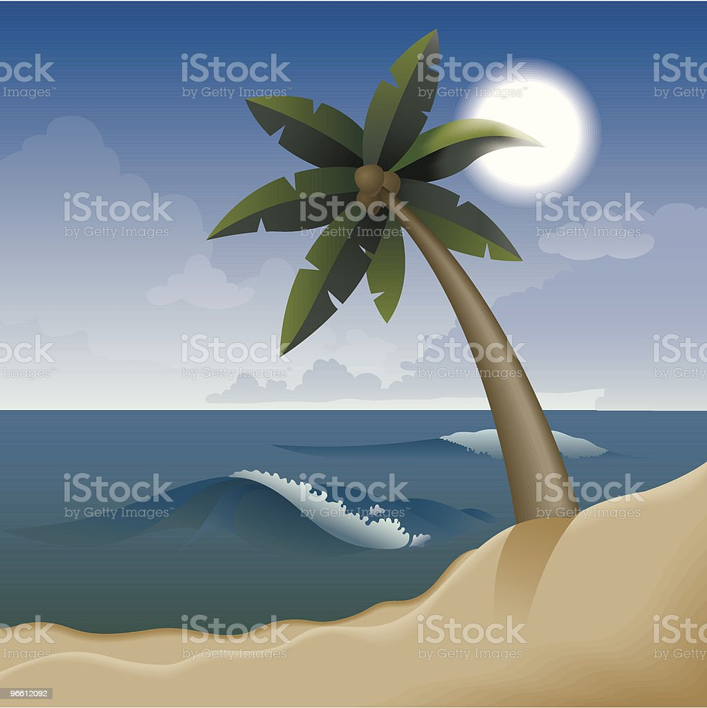 Vacation on tropical beach - Royalty-free Absence stock vector