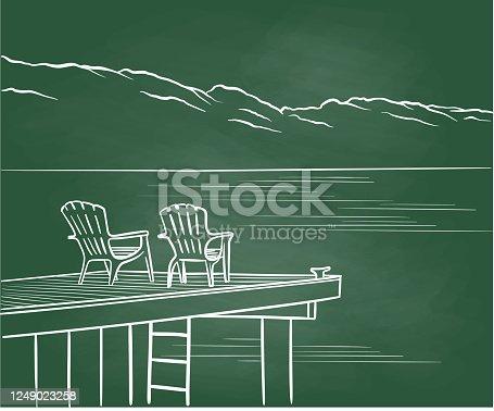 istock Vacation Shopping Chalkboard 1249023258