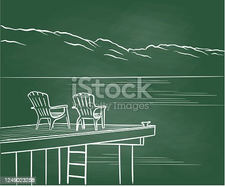 istock Vacation Shopping Chalkboard 1249023258