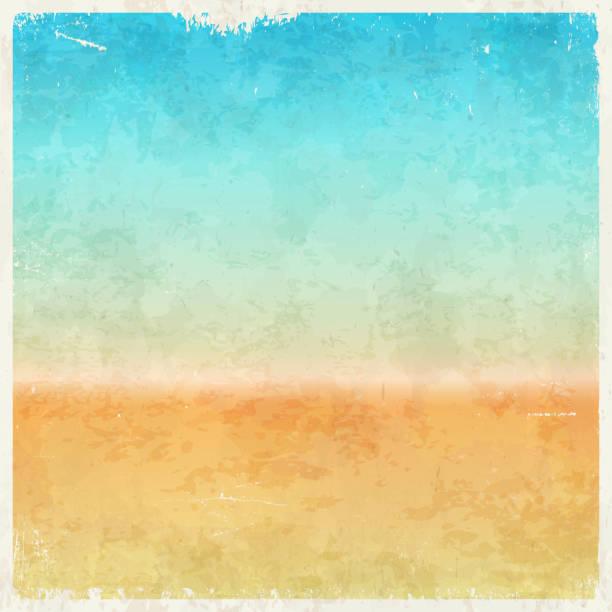 bildbanksillustrationer, clip art samt tecknat material och ikoner med vacation themed grungy background - det förflutna