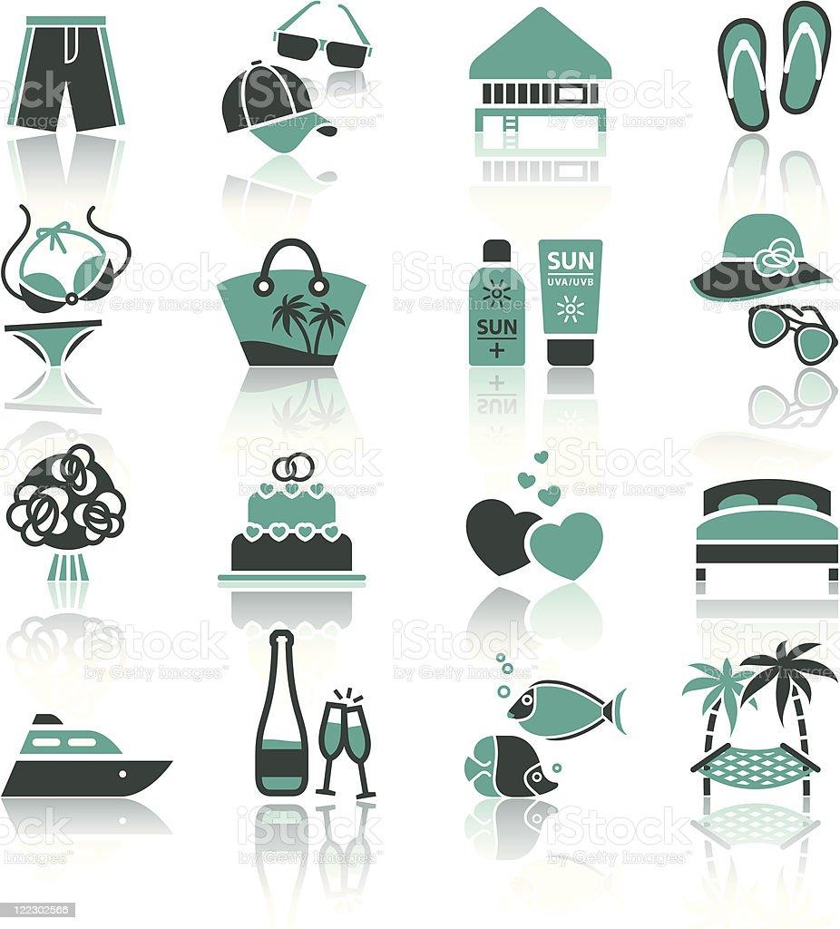 Vacation, Travel & Recreation, icons set. royalty-free stock vector art