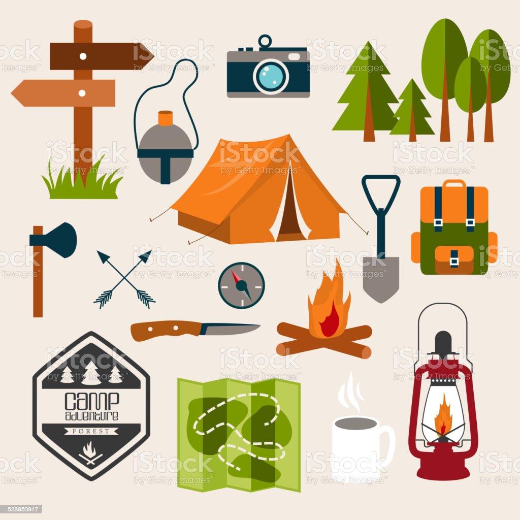 Vacation vector art illustration