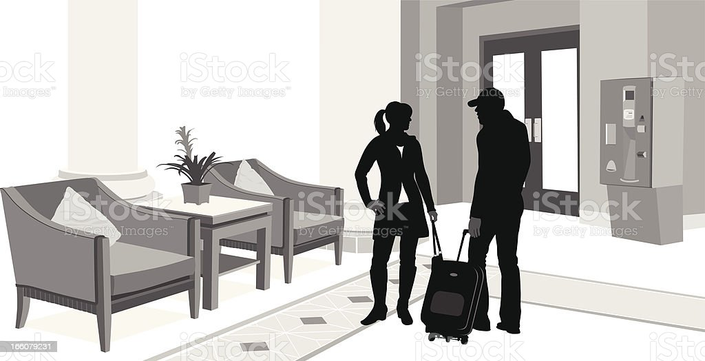 Vacationers Vector Silhouette royalty-free stock vector art