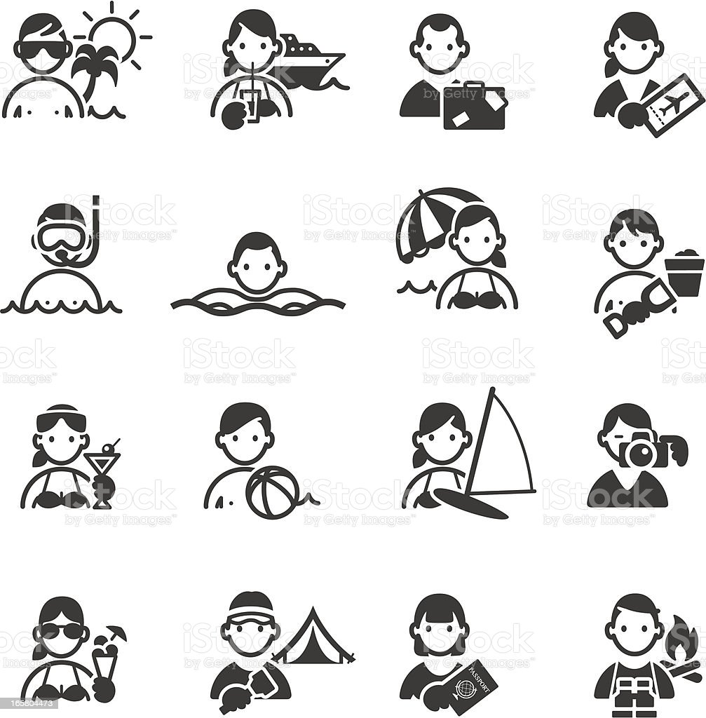 Vacation/Holiday Icons royalty-free stock vector art