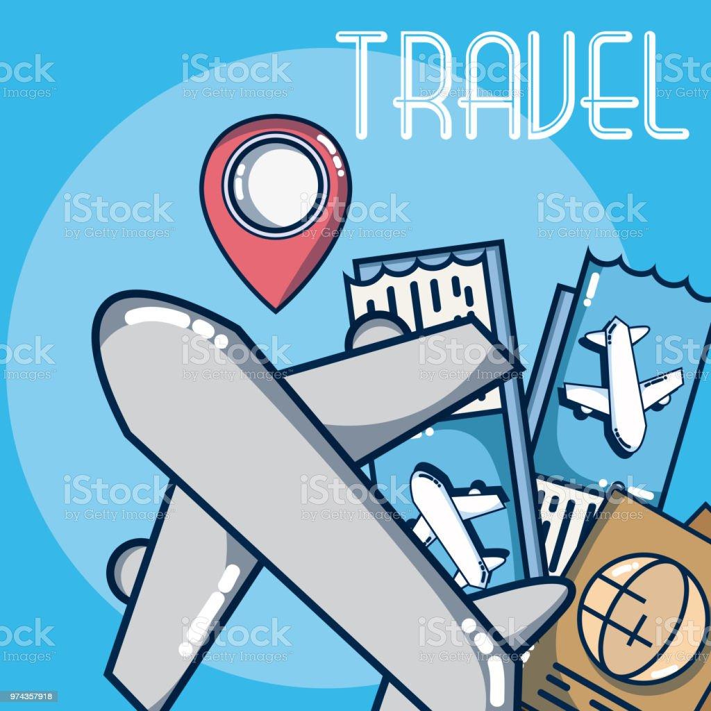 Vacaciones y viajes - ilustración de arte vectorial