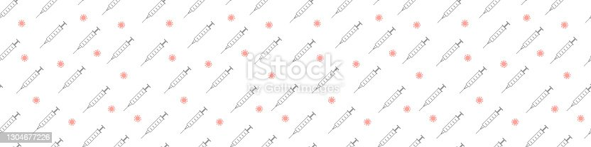 vaccination banner. vaccination pattern.vaccination long horizontal web banner.vaccination seamless pattern.vaccination insection billboard.vaccination background. Vaccination of influenza..flu shot.
