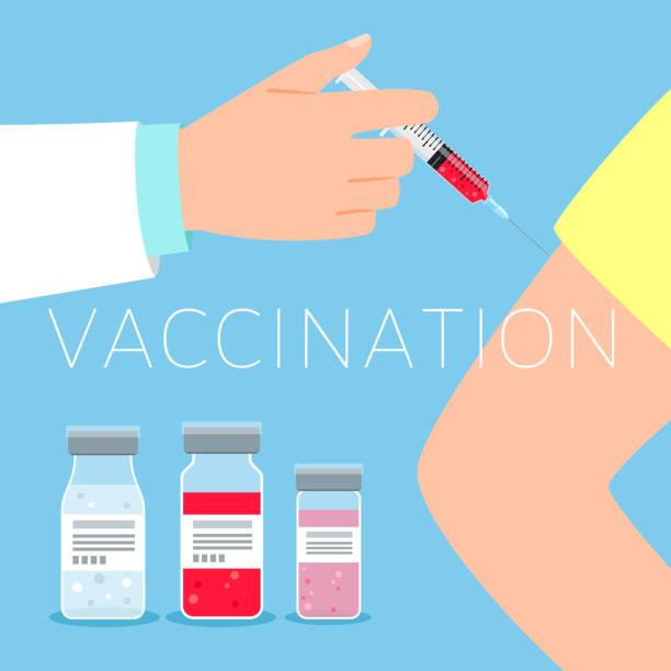 Vaccination concept illustration vector art illustration