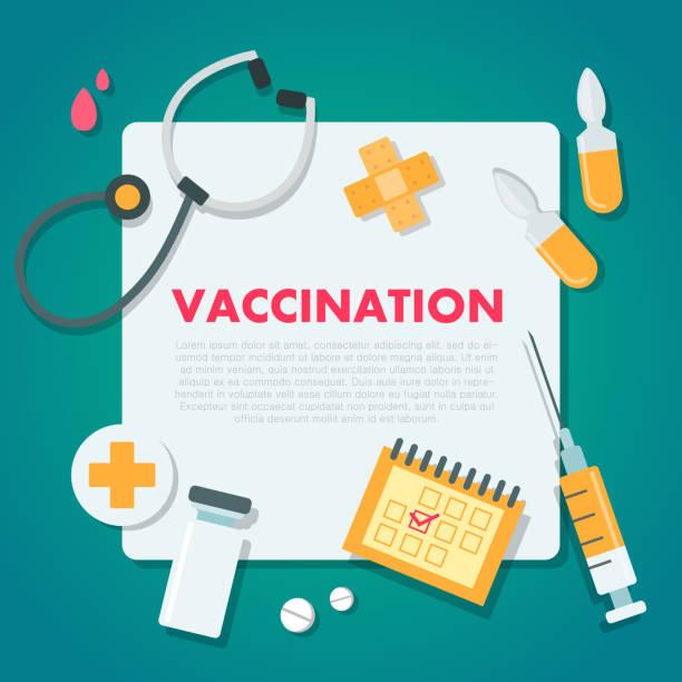aşı konsept illüstrasyon. - vaccine stock illustrations