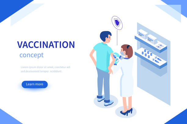 szczepienia - vaccine stock illustrations