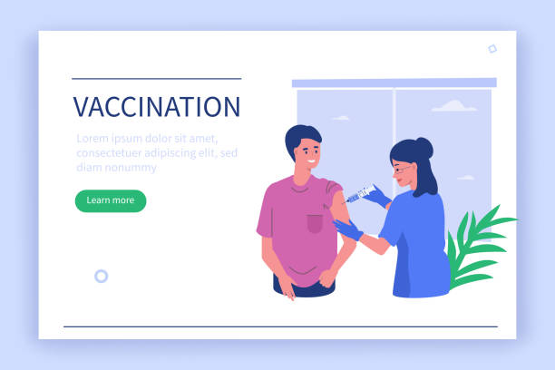 stockillustraties, clipart, cartoons en iconen met vaccinatie - vaccin