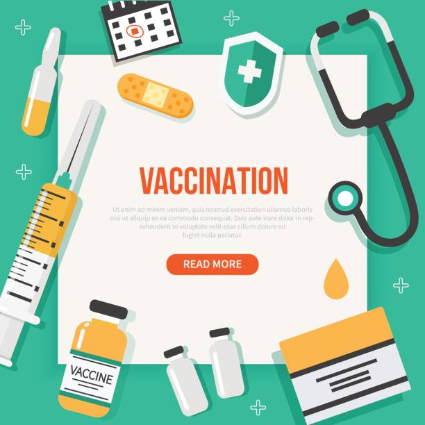 vaccination - vaccine stock illustrations