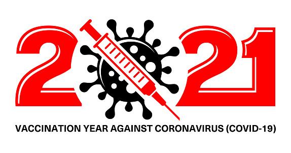 2021 vaccination year logo