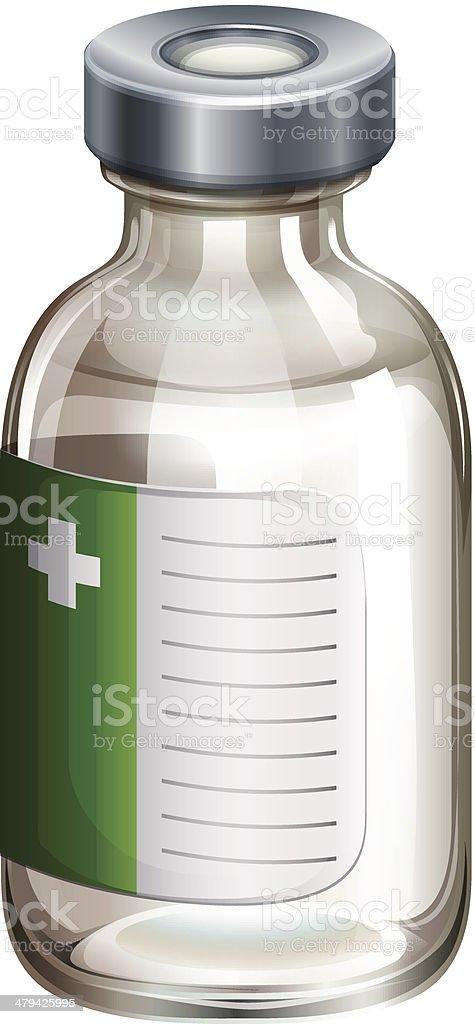 Vaccine bottle royalty-free stock vector art