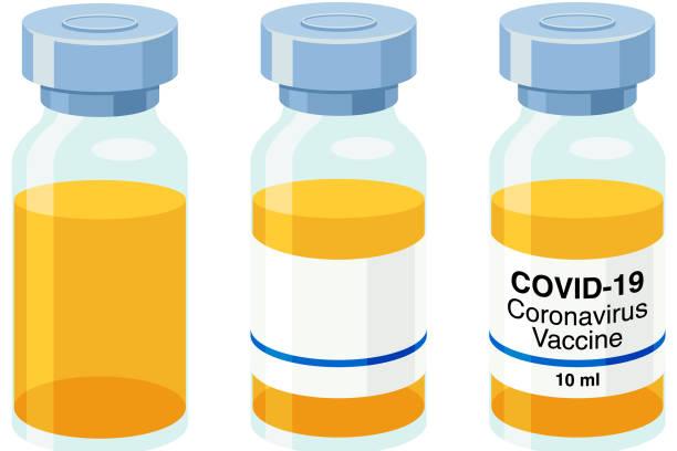 illustrazioni stock, clip art, cartoni animati e icone di tendenza di vaccine covid-19 vector - hand on glass covid