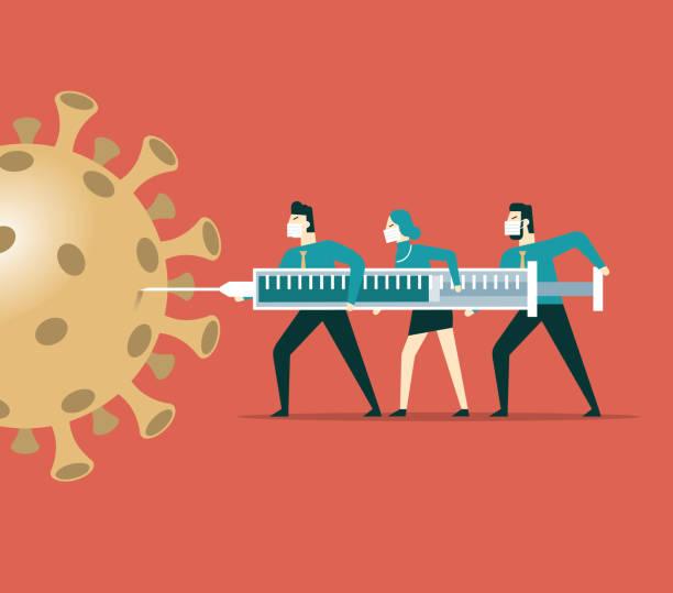 ilustraciones, imágenes clip art, dibujos animados e iconos de stock de vacuna para el nuevo coronavirus - covid 19 vaccine