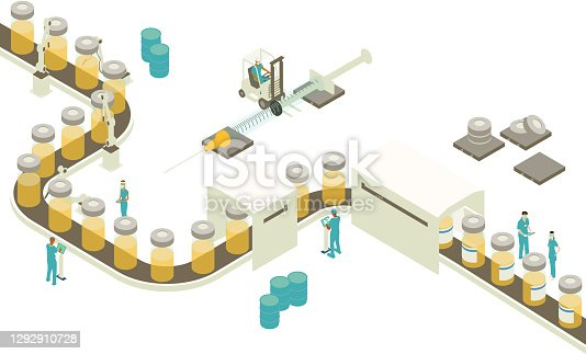 istock Vaccine production illustration 1292910728