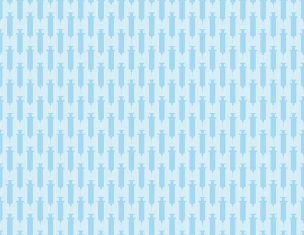 Vaccine Syringe Seamless Pattern vector art illustration