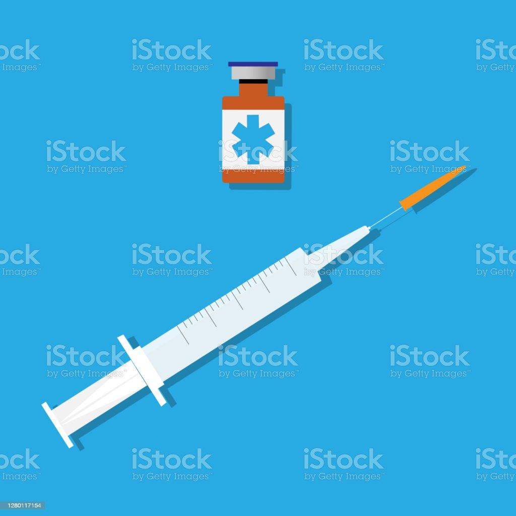 疫苗。 - 免版稅2019冠狀病毒病圖庫向量圖形