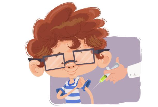 illustrations, cliparts, dessins animés et icônes de vacinação infantil - vaccin enfant