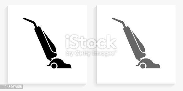 istock Vacuum Black and White Square Icon 1148967868