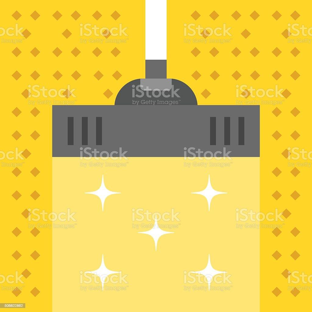 Vacuum carpet. Cleaning concept. Modern flat design vector illustration vector art illustration