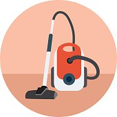 Vacuum Cleaner Colored Vector Icon