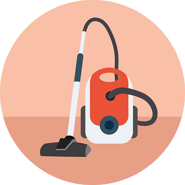 stockillustraties, clipart, cartoons en iconen met vacuum cleaner colored vector icon - stofzuiger