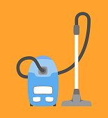 Vacuum cleaner icon isolated. Household appliance.