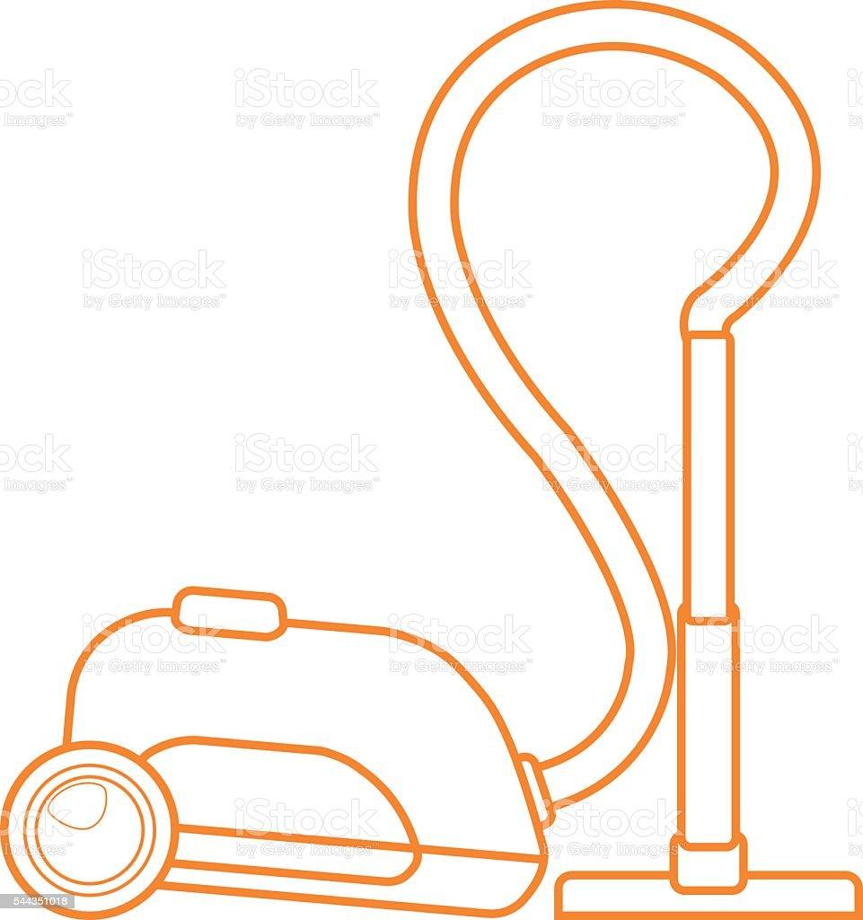 Staubsauger Symbol Kontur Zeichnen Elektrische Haushaltsgeräte Zur ...