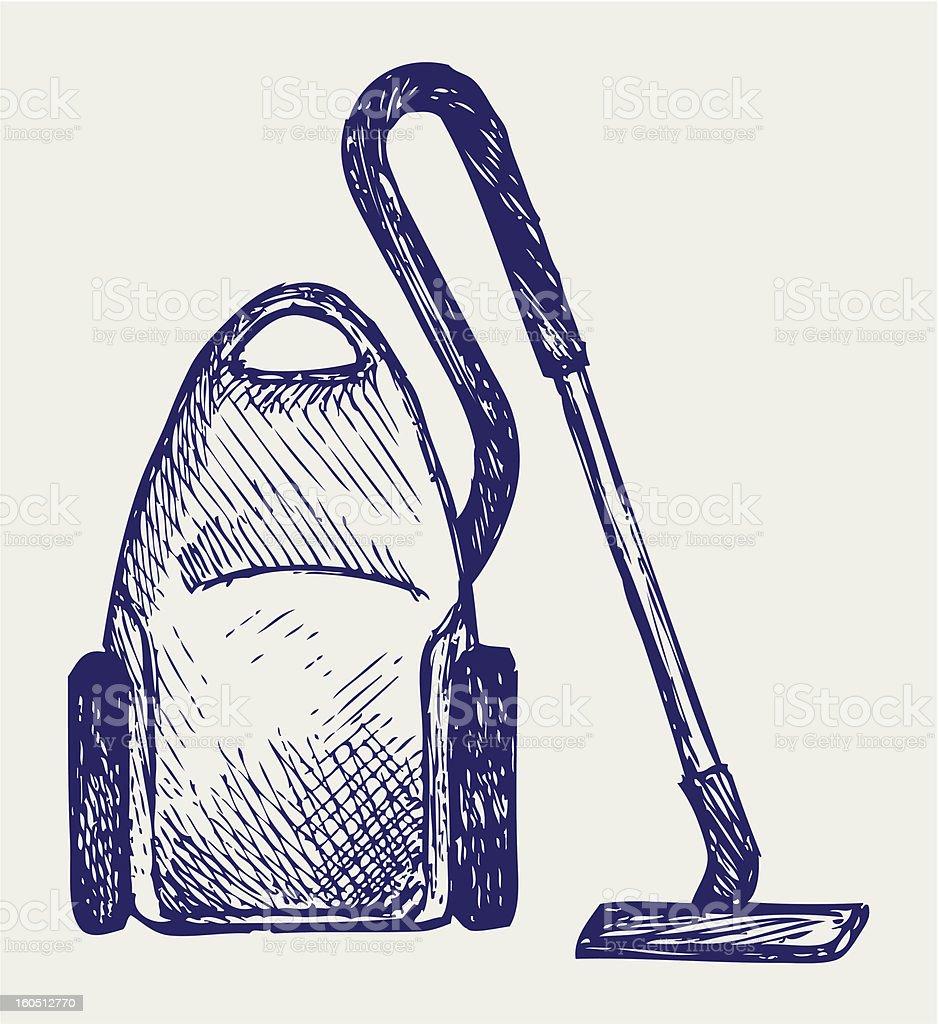 Vacuum cleaner royalty-free stock vector art