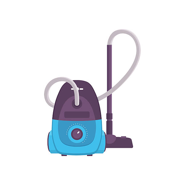 stockillustraties, clipart, cartoons en iconen met vacuum cleaner - stofzuiger