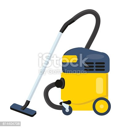 istock Vacuum cleaner vector illustration. Hoover icon. Cleaning machine 614404708