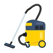 Vacuum cleaner vector illustration. Hoover icon. Cleaning machine